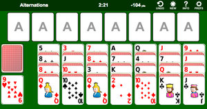 Alternations Solitaire screenshot