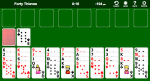 Forty Thieves Solitaire screenshot