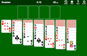 Russian Solitaire screenshot